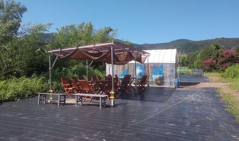 開放的な休憩スペース