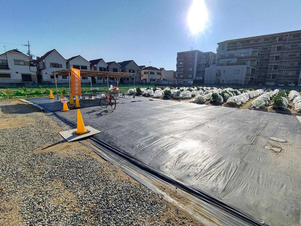駐輪場もあり自転車で畑に通えます。