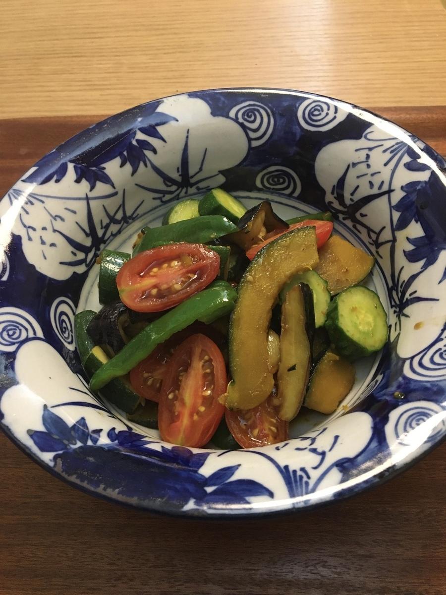 食感を生かした夏野菜の黒酢南蛮